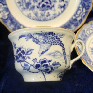 3 Piece Asiatic Bird Transferware Tea Set circa 1926/27
