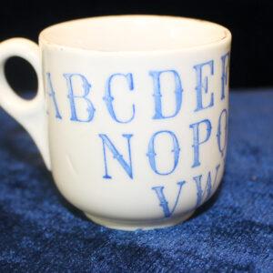 Vintage Alphabet Child's Mug – blue and white