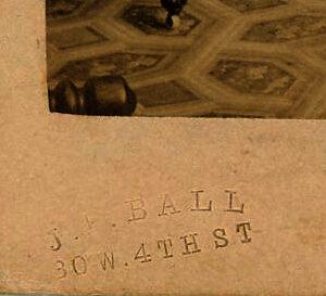 CDV by famous 19th Century Black photographer – J.P. Ball