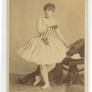 Occupational Cabinet Card – 19th century ballerina in costume