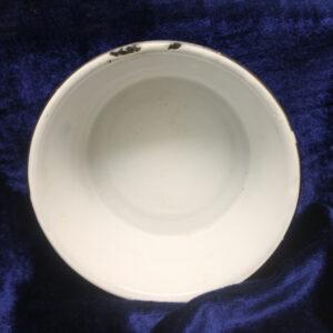 Vintage Cobalt Blue & White Swirl Pudding/Milk Pan – tons of shine!