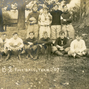 1907 RPPC Football Team In Uniform – leather nose guards, football