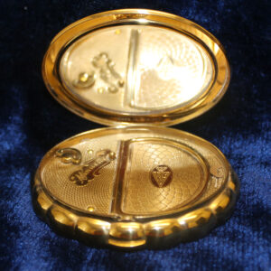 """Womens Musical Compact – """"Minuette"""" with mirror, xlnt"""