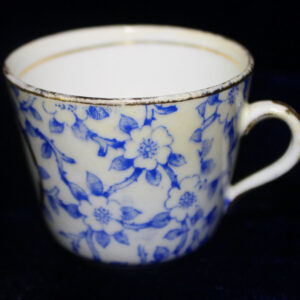 """1883 Childs Porcelain Floral Cup – """"A Present from Brynmaur"""""""