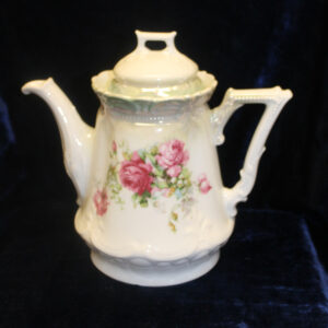 Antique Pink Roses Porcelain Pitcher – hand painted, extraordinary piece