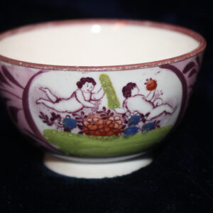 19th Century Handleless Child's Teacup – pink lustre, charming