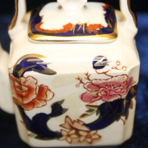 RARE!! Masons Mandalay Miniature Child's/Doll Set – teapot/kettle, sugar, creamer, cup, saucer