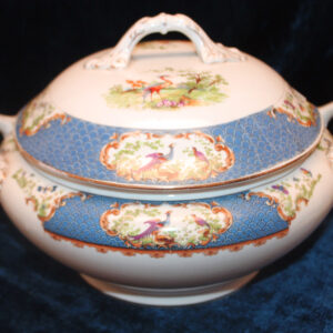Antique English Decorated Tureen – in the style of James Giles