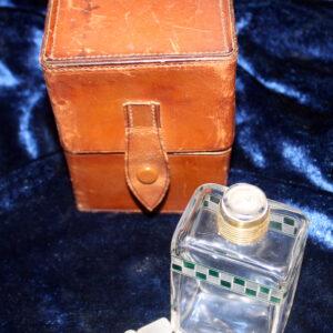 Art Deco Inspired Men's Cologne Bottles With Travel Case