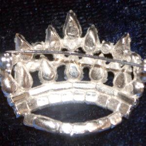 Vintage Rhinestone & Seed Pearl Brooch – rhodium plated, sparkle