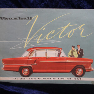"""Vintage Vauxhall """"Victor"""" Automobile Advertising Fold-Out Brochure – 1950's"""