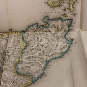 """1846 Maps of Scotland by S. Lewis – leather bound """"Topographical Dictionary of Scotland"""""""